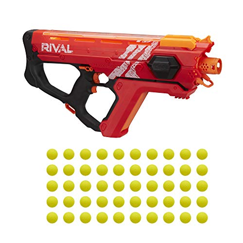 Perses MXIX-5000 Nerf Rival Motorized Blaster (red) -- Fastest Blasting Nerf Rival System, Up to 8 Rounds Per Second -- Rechargeable Battery, Quick-Load Hopper