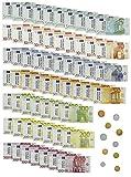 MIJOMA 71-teiliges Spielgeld Rechengeld für Kinder-Kaufladen, für Spielzeug Kasse Kaufmannsladen-Zubehör Rollenspiel