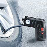 FADZECO Car Tyre Inflator Digital with Tire Pressure Gauge 12v Air Compressor Car Tyre Pump