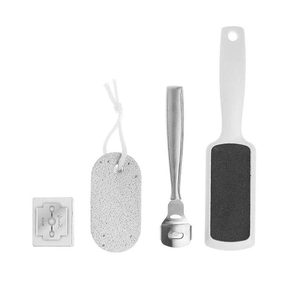 所得カーフテーブルKaiyitong フットストーン、足皮膚科専門のステンレス鋼のエクスフォリエイティング皮膚剥離セット ,軽量 (Color : Silver, Size : 20.5*4.5cm)