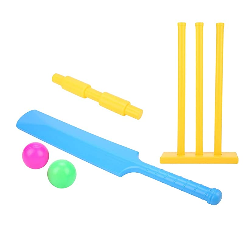 Alomejor Cricket Gift Set Cricket Equipment Beach Wicket Stand with Plastic Bat & Accessories for Boys and Girls