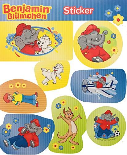 8 Sticker * Benjamin BLÜMCHEN * als Mitgebsel, als Geschenk oder zum Basteln | Aufkleber Bilder Kinder Kindergeburtstag Geburtstag Töröö Elefant