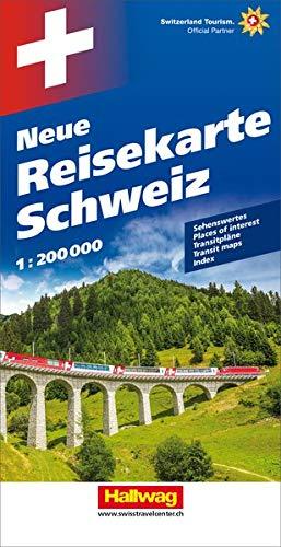Hallwag Straßenkarten, Neue Reisekarte Schweiz: Sehenswertes, Transitpläne, Index. Mit besonders praktischem Falzsyst,...