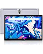 Tablet 10 inch Android 10 Tablet 2021 Latest Update 4G Phone Tablet 64GB + 4GB Storage Octa-Core Processor, 13MP Camera, Dual SIM Card Slot, 128GB Expand Support, GPS, WiFi, Bluetooth, 1080P HD(Gray)