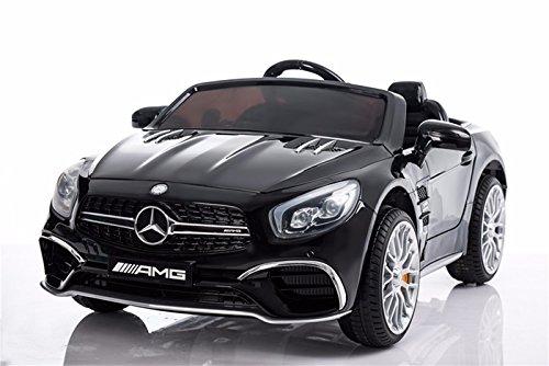 Mercedes-Benz Kinderauto SL65 AMG Coupe Elektroauto Kinderfahrzeug Ledersitz (schwarz)*