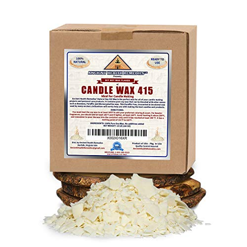 All Natural, Golden Brands, Candle Making Soy Wax 415 Flakes 10 LB Unscented, USA Made, for DIY Candle Making, Candle Projects, Kits, Supplies (USA) (10LB)