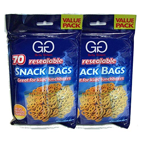 Reusable Sandwich Bags & Snack Lunch Food Grade Hygienic BPA Free Eco-Friendly Leakproof Storage Bag for Lunch, Fruits, Picnic, Travel and Home Kitchen Organization | Pack of 2 (140 bags in total)