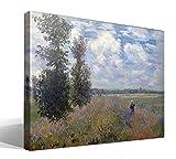 Cuadro Canvas Campo de Amapolas en Argenteuil de Oscar Claude Monet