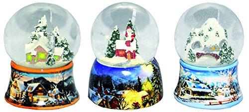Minium Collection 0324900560 Lot de 2 Boules de Neige sur Socle cartonn/é Diam/ètre 65 mm