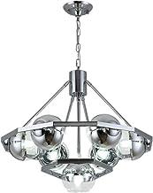 Ceiling Lighting, Vintage Industrial Spherical Chandelier, 7-Lights Bedroom Living Room Metal Ceiling Lamp with Glass Lamp...