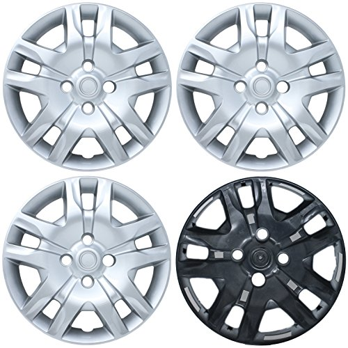 CoverTrend (Set of 4 Pack) fits 2007 2008 2009 2010 2011 2012 NISSAN SENTRA (fits 16' INCH WHEELS ONLY) Replica Bolt On Hub Caps - Wheel Covers - Cap (Replaces 570-53084, 53074, 40315ZT50A, 403159AA0B, 40315ET00A)