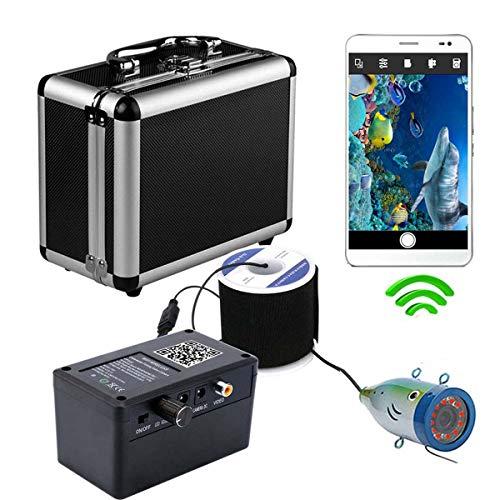 XINTONGSPP Buscador de Peces bajo el Agua, grabadora de Video de la cámara de Pesca inalámbrica WiFi HD WiFi admite la grabación de Video y Tome la Foto 12 PC Luces de la lámpara infrarroja,50m