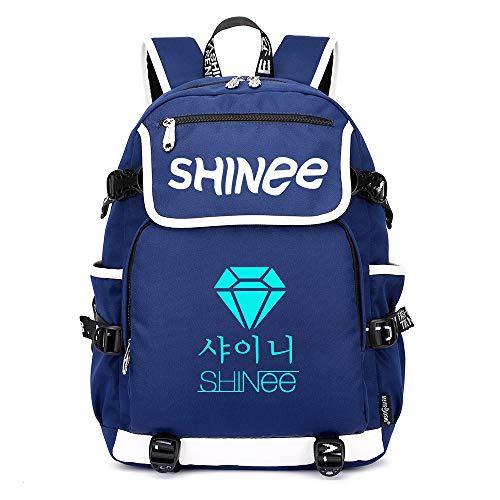 Shinee Rucksäcke Schulranzen Rucksack Daypack Trekkingrucksack Mann und Frauen Trend Wandern Tasche Mode Sport Wild Style Shinee Backpacks (Color : Blue02, Size : 45 X 37 X 16cm)