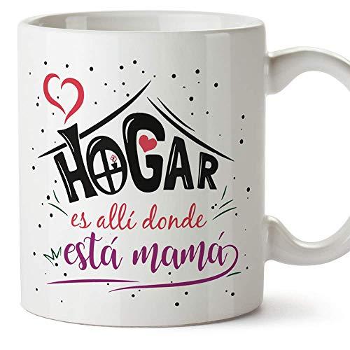 """MUGFFINS Tazas para Mamá –""""Hogar Mamá (Modelo 3) – Regalos para el día de la Madre/Desayunos originales"""