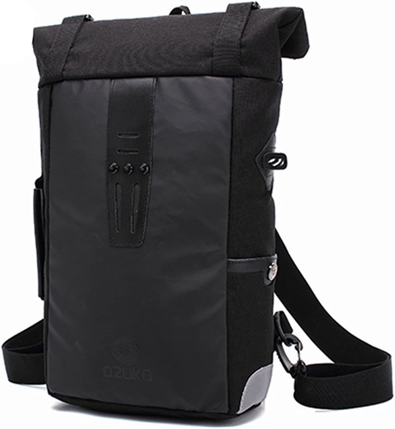 Large Capacity Travel Rucksack Men's Travel Backpack Outdoor Hiking Casual Waterproof Oxford Cloth Laptop Daypack Commerce Business Trip (color  Black) Comfort Laptop Storage Backpack