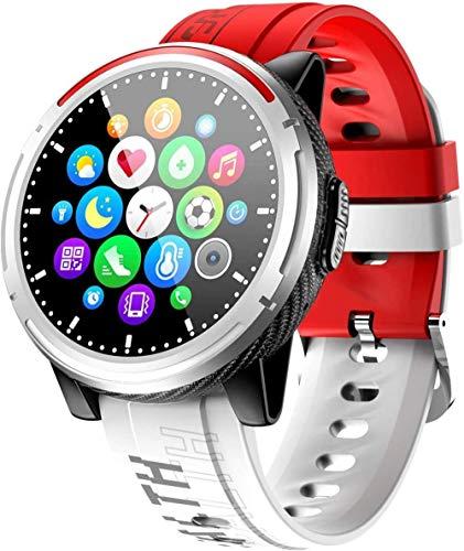DHTOMC Reloj inteligente 1.3 pulgadas deportes de moda IP67 impermeable fitness tracker podómetro-rojo