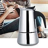 Duokon Caffettiera Portatile in Acciaio Inox Moka Espresso Moka Ideale per Campeggio e Viaggi(100ml)