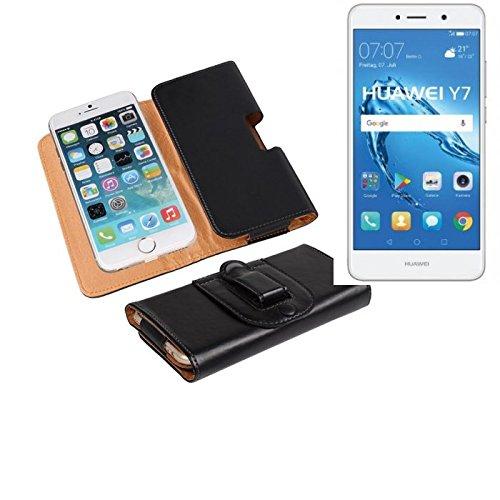 Für Huawei Y7 Dual SIM Gürteltasche Holster Gürtel Tasche Schutzhülle Handy Tasche Schutz Hülle Smartphone Hülle Handytasche Seitentasche Quertasche Belt Bag Etui Schwarz Für Huawei Y7 Dual SIM