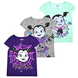 Disney Princess T-Shirts for Girls – 3 Pack Short Sleeve Graphic Tees, Vampirina Grey, 3T