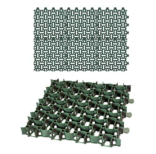 6x Rasengitter Paddockplatte 50x50 cm Reitplatzmatten Rasenmatten Rasenwaben Kiesgitter Parkplatzrasen 1,5 m²