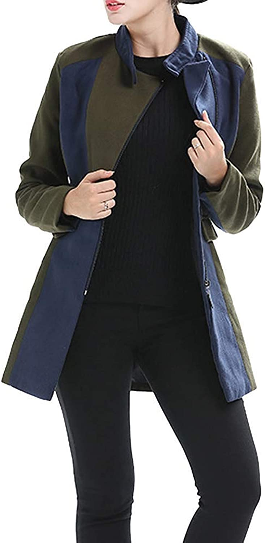 damen Jacket Home Damenjacke, Dicker Parka-Mantel, Windjacke, Strickjacken, Gelegenheitsspiele (Farbe   Army Grün, Größe   L)