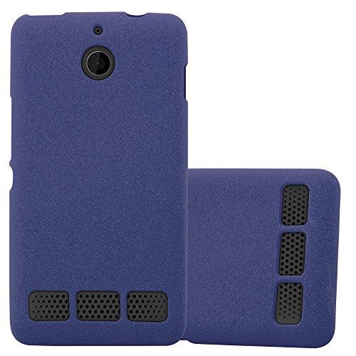 Cadorabo Hülle für Sony Xperia E1 - Hülle in Frost DUNKEL BLAU – Handyhülle aus TPU Silikon im matten Frosted Design - Silikonhülle Schutzhülle Ultra Slim Soft Back Cover Case Bumper