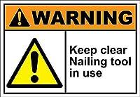 使用中の明確な釘付けツールを維持する 金属板ブリキ看板警告サイン注意サイン表示パネル情報サイン金属安全サイン