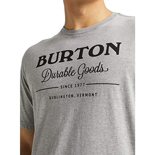 Burton Durable Goods, Maglia A Maniche Corte Uomo, Gray Heather, M