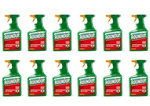 ROUNDUP AC Unkrautfrei Sprühflasche 12 l - Unkrautvernichter schnelle & effektive Wirkung in Beeten oder Gartenwegen