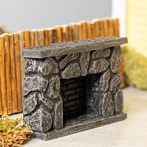 factorydirectcraft Fieldstone Fireplace - House Doll Sale Popular brand Miniature