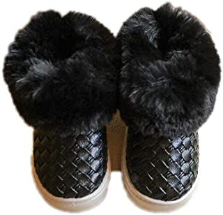 Endand Winter New Children's Snow Boots Girls Warm Fur Shoes Boys PU Leather flip Low Boots