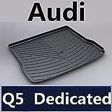 TUTU-C - Alfombrilla para maletero de coche, bandeja para maletero o bandeja para Audi A1 A3 A4 A5 A6 A7 A8 Q3 Q5 Q7 2015 2016 2017 2018 TPO Material (Q5 09-18)