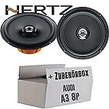 Hertz DCX 165.3-16cm Koax Lautsprecher - Einbauset für Audi A3 8P - JUST SOUND best choice for caraudio