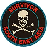 United States Military Vietnam Cambodia Laos Survivor South East Asia Patch, with Iron-On Adhesive