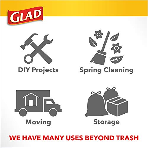 Glad Tall Kitchen Trash Bags ForceFlex Plus with Clorox, 13 Gallon, Lemon Fresh Bleach Scent 90 Count (Package May Vary)