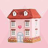 zenghh princess cottage rosa saving box, seaside agriturismo piccola città castello castello di castello deposito savings pot pot girl adolescenti bambino, american country villa paper carta soldi sce