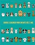 Chiens à colorier pour enfants dès 2 ans: Livre de coloriage de chiens  avec 35 pages de dessins...