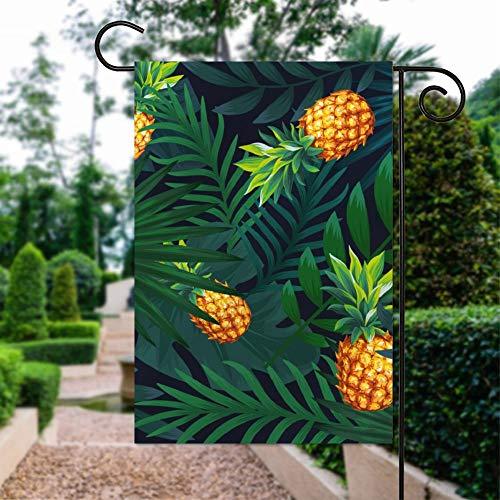 Blühende Pflanze Bromelie Ananas Garten Flagge Lustig Indoor Outdoor Flagge Frühling Sommer Garten Flagge Haus Banner Flagge