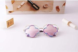 ZUEN - Gafas de Sol polarizadas para niños, Gafas de Sol Confortables para niños Marco de Metal con Flor para niños, niña y niña (Incluye Estuche para Gafas)