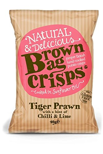 Brown Bag Crisps - Tiger Prawn with a hint of Chilli & Lime - 40g
