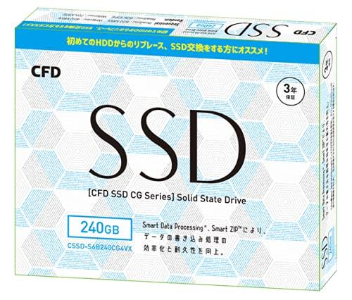 CFD販売 2.5inch SATA接続 SSD CG4VX シリーズ 3年保証 CSSD-S6B240CG4VX (240GB)