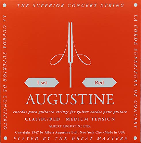Augustine 650427 Corde per Chitarra Classica, Etichetta Rossa, Set Standard-Cantini, Tensione Normale Media