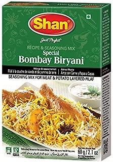 Shan Bombay Biryani Recipe and Seasoning Mix- 60g Spice Powder, No Preservative, Tasty rice dish/tasty meat layered Pilaf.