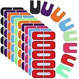 Ziyero 8 Copias Tipo U Pegatinas de Uñas Desechables Plantillas de Esmalte de Uñas Dedos Protector de Uñas para Pintar Se Utiliza Para el Esmalte de Uñas, Gradiente de Color, Punzonado, Etc