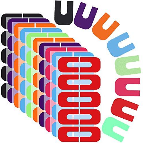 Ziyero 8 Exemplare Nagel Schutz U-Form Anti Überlauf Verpackungs Französisch Nail Sticker Nagel Schablone Aufkleber Band Maniküre Werkzeug Wird Zum Nagellackieren, Farbverlauf, Stanzen Verwendet Usw