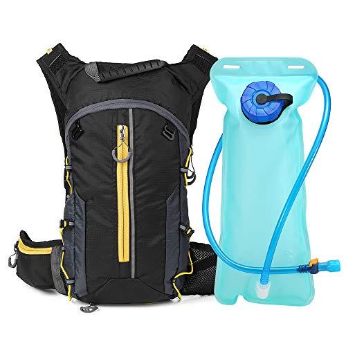 Festnight - Mochila de hidratación con bicicleta, para deportes al aire libre, bicicleta de montaña, senderismo, maratón, amarillo, With Bladder