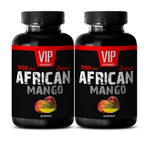 Best African Mango Seed Extract - Pure African Mango 1000mg 4: 1 Extract - Weight Loss (2 Bottles 120 Capsules)