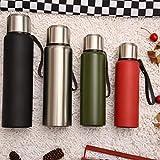 Taza aislada de acero inoxidable Olla de viaje de gran capacidad y botella deportiva de cuerda manual-Color verdadero_800 ml