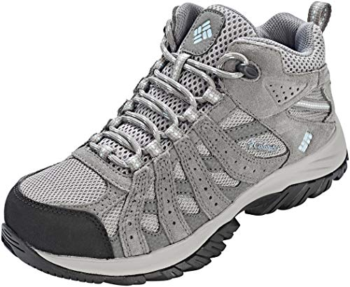 Columbia Canyon Point Mid, Zapatos de Senderismo Impermeables para Mujer, Gris (Light Grey, Oxygen), 38 EU