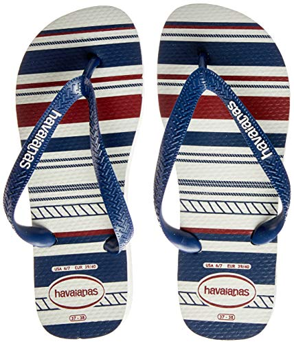 Havaianas Top Nautical, Chanclas para Hombre, Multicolor (White/Navy/White 5035), 37/38 EU